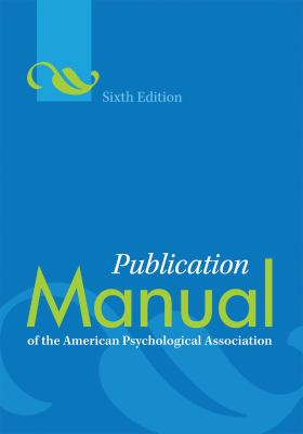 Publication manual of the American Psychological Association-9781433805615-6-American Medical Association-American Psychological Association